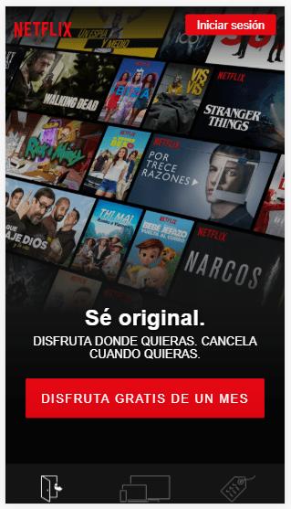 Ejemplos de CTAs Netflix Inbound Mindset